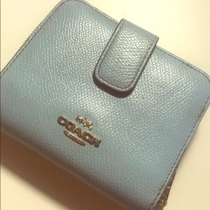 AUTHENTIC Coach Baby Blue Full Sized Wallet